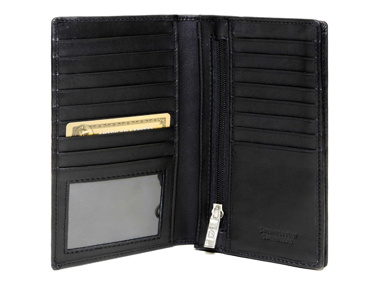 minimalist wallet in Tuscany leather rfid long wallet Front pocket wallet slim wallet