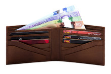 Ashlin® DESIGNER   ALESSANDRO Mens Wallet with Angled Pockets   Buff Leather   [7728-09]