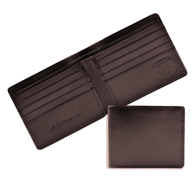 e91beee7ad4fb Ashlin® DESIGNER | EDWARD RFID Blocking Slim Mens Wallet with Double  Billfold | Leather | [RFID5748-07]