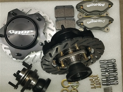 MADE IN USA BILLET 24T -930 MICRO STUB REAR BRAKES WITH WILWOOD 4 PISTON CALIPERS