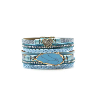Tormenting turquoise Leaf and Heart Bracelet