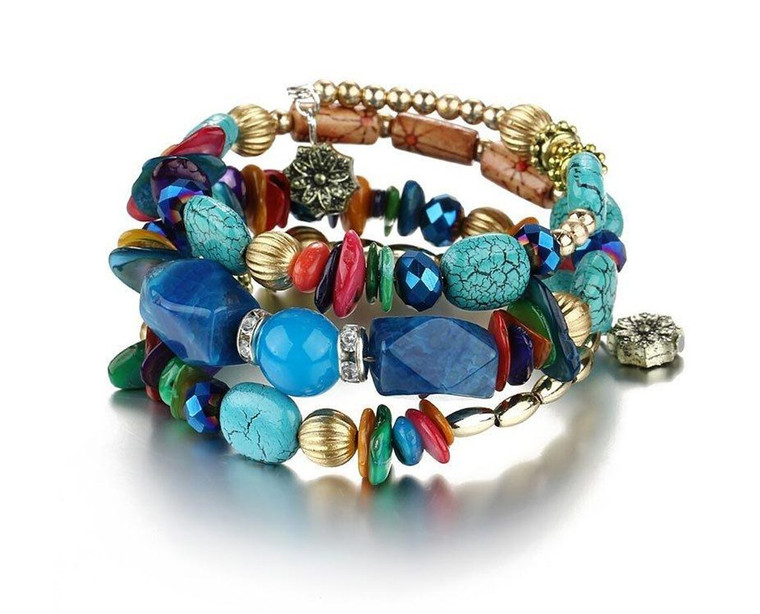 Multi-Coloured Trendy Beaded Bracelet