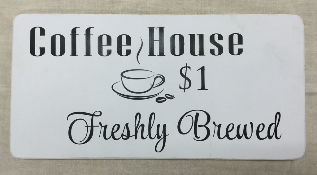 "Flat Sign - ""Coffee House"""