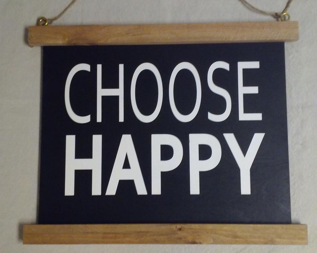 """Half Framed Sign """"CHOOSE HAPPY"""" - Black"""