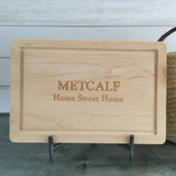 "12"" x 18"" Cutting Board ""Home Sweet Home"""