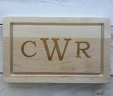 "10"" x 16"" Cutting Board Engraved with 3 Letters"