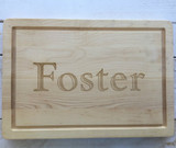 "14"" x 20"" Cutting Board with Engraved Last Name"