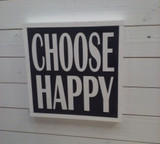 "Framed Sign ""CHOOSE HAPPY"""