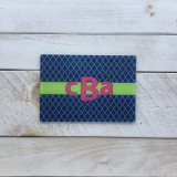 """Bailey"" 3 Letter Monogram Glass Cutting Board"