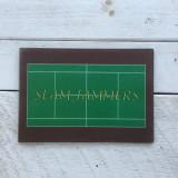 Tennis Court Glass Cutting Board