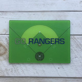"""Go Rangers"" Baseball Diamond Cutting Board"