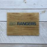 """Go Rangers"" Basketball Court Cutting Board"