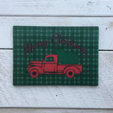 """Merry Christmas"" Glass Cutting Board"