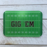 """Gig 'Em"" Glass Cutting Board"