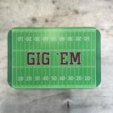 """""""Gig 'Em"""" Glass Cutting Board"""