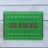 """Go Bucks"" Glass Cutting Board"