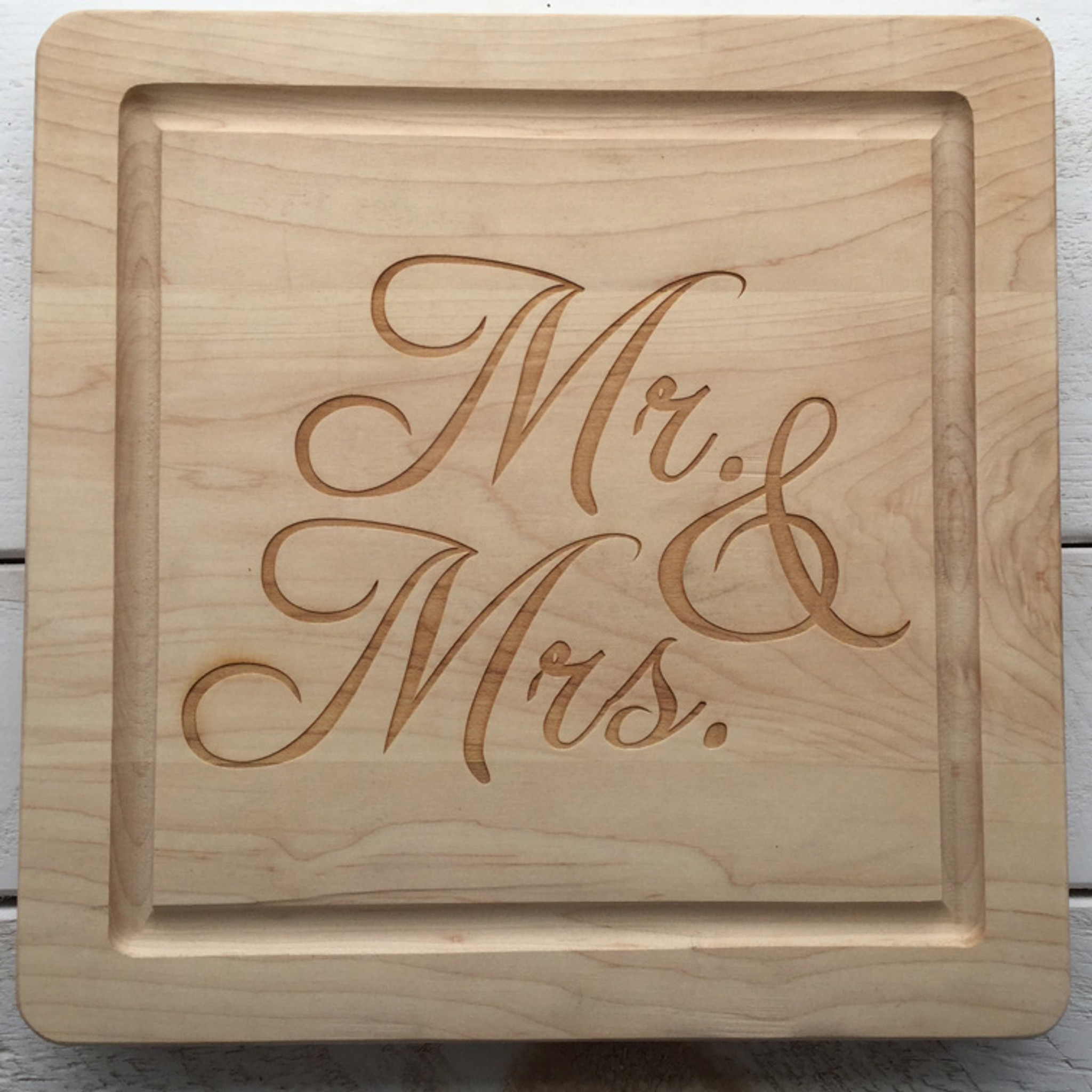 12 inch mr and mrs wood cutout in bromello font