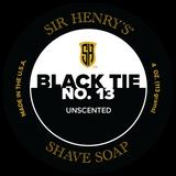 Black Tie No. 13 Unscented Shaving Soap