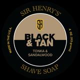 Black & Tan Shaving Soap 4 oz Jar