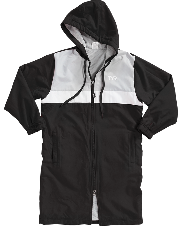 Fabric: 100% Polyester  Features:   Soft brushed outer shell with DWR Honeycomb brushed inner fleece for 25% more warmth Inner Phone pocket Adjustable hood