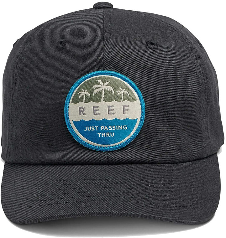 DESCRIPTION It's all-day happy hour anytime you wear the Reef Hour Hat. Features include a woven patch with satin stitch, is unstructured at crow and flex fit technology in two sizes, S/M and L/XL. FEATURES Unstructered at crown Woven patch with satin stitch FlexfitFabric: 98% Cotton / 2% Elasane