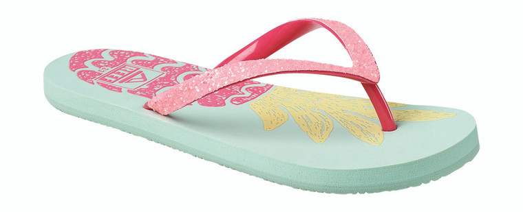 What goes together like mermaids and sunshine? Our Stargazer flip flops and the pretty prints we've paired them with! She'll love the sparkles, too. You'll love the flexible rubber sponge outsole and comfortable footbed.