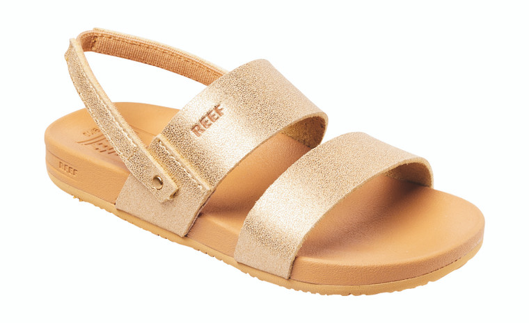 So much cute make happy. Brain stop work. So cuteness. (Now that we've recovered, some key info: the vegan leather on these sandals is soft on her feet, and they have the same cushion with rebound footbed and arch support as the grown-up version.)