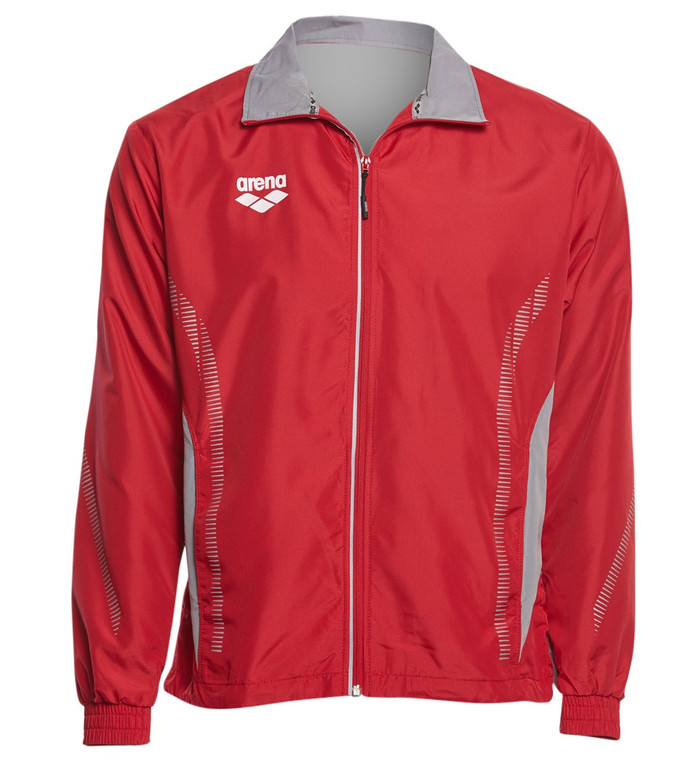 Get loose and ready for your next event in the Arena Team Line Ripstop Warm Up Jacket. Featuring a high zip up neck for maximum comfort and warmth and a soft, microfiber ripstop fabric, this warm up jacket is geared toward the traveling athlete.  Fabric & Care 100% Polyester. Machine wash cold. Details Warm up jacket tracksuit top. Microfiber ripstop fabric. High neck collar for extra warmth. Mesh lining. Sizing & Fit Regular Fit.