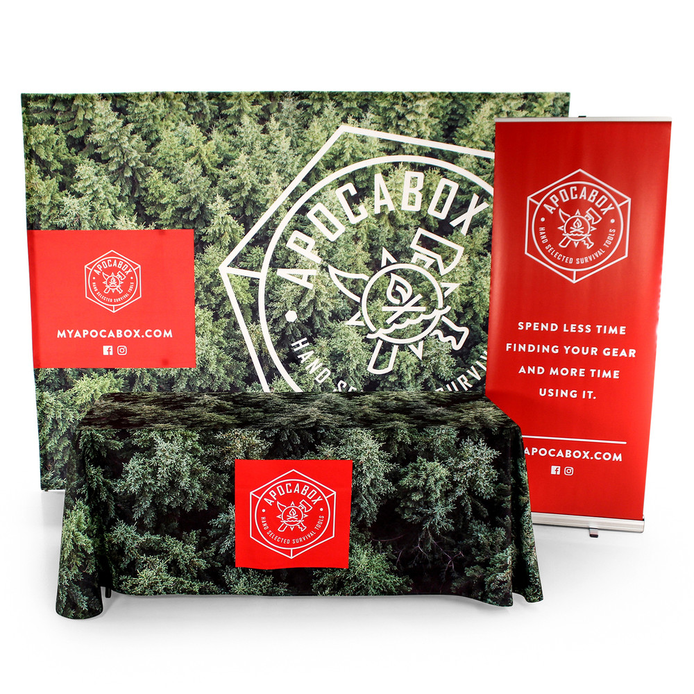 3-Sided Open-Back Edge to Edge Custom Printed Tablecloth