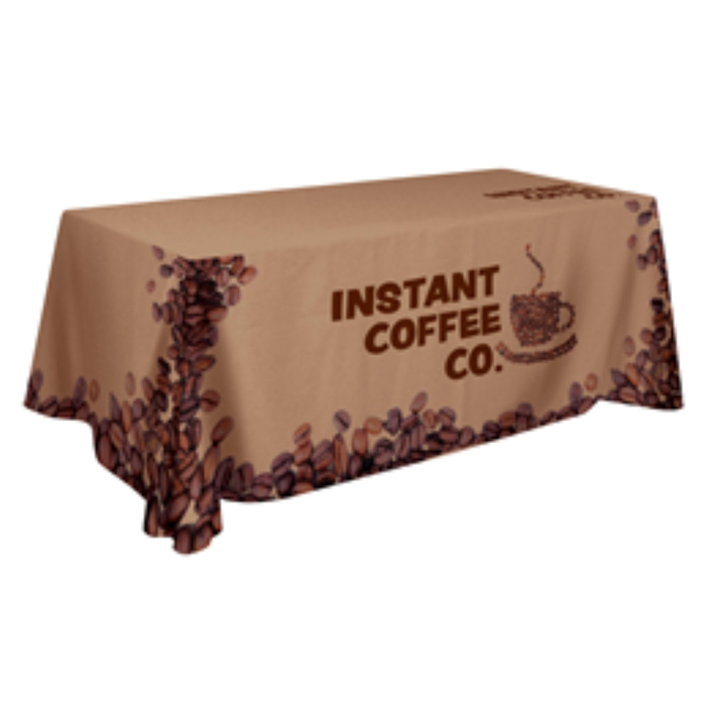 4-Sided Closed-Back Edge to Edge Custom Printed Tablecloth