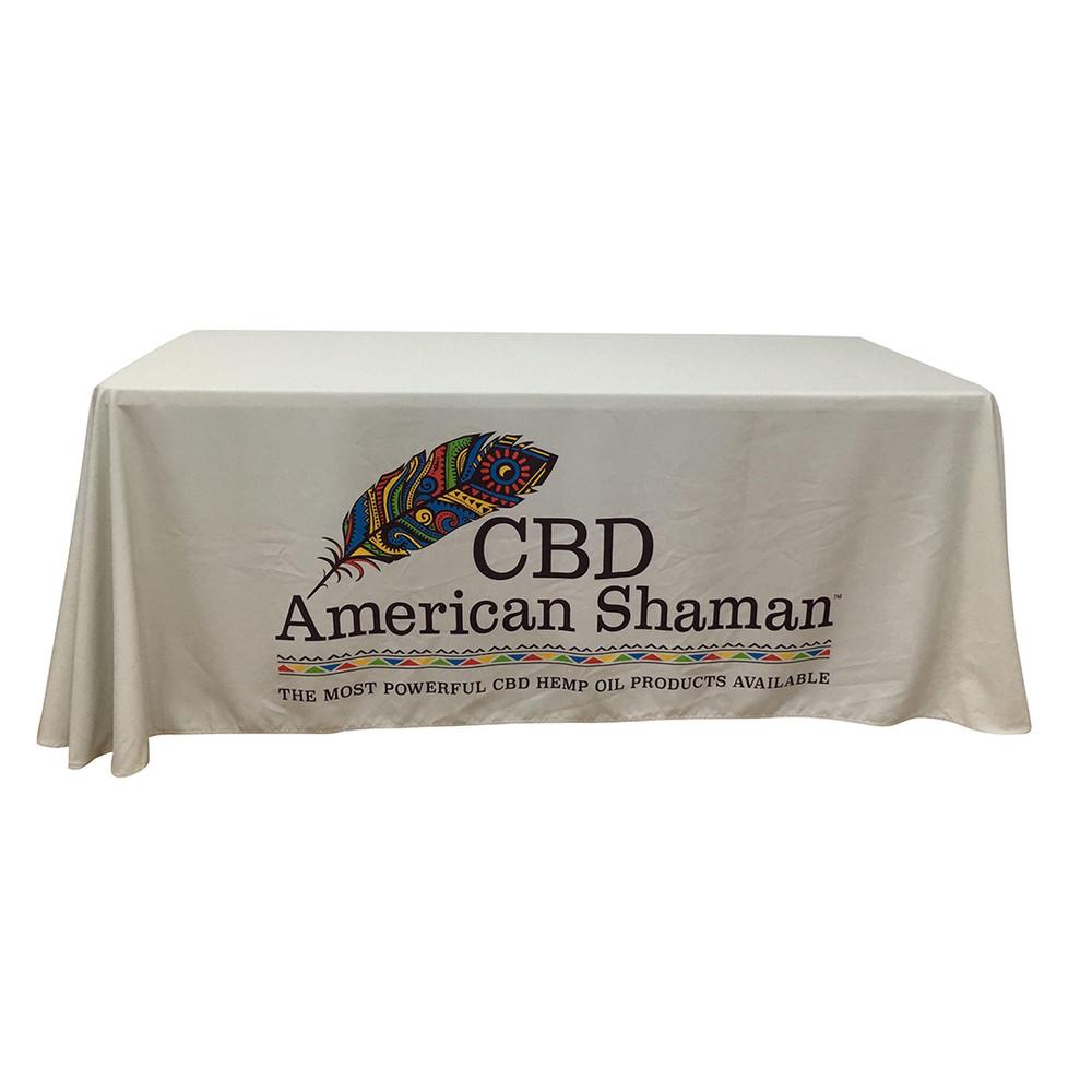 4-Sided Closed-Back Custom Printed Logo Tablecloth