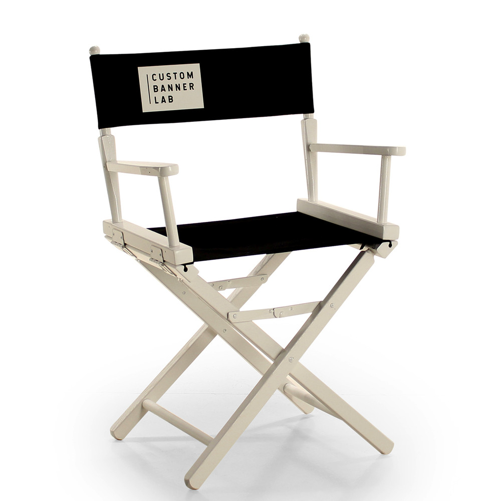 "18"" Height, White Chair"