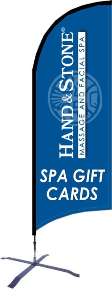 Hand and Stone Spa Gift Card Razor Flag