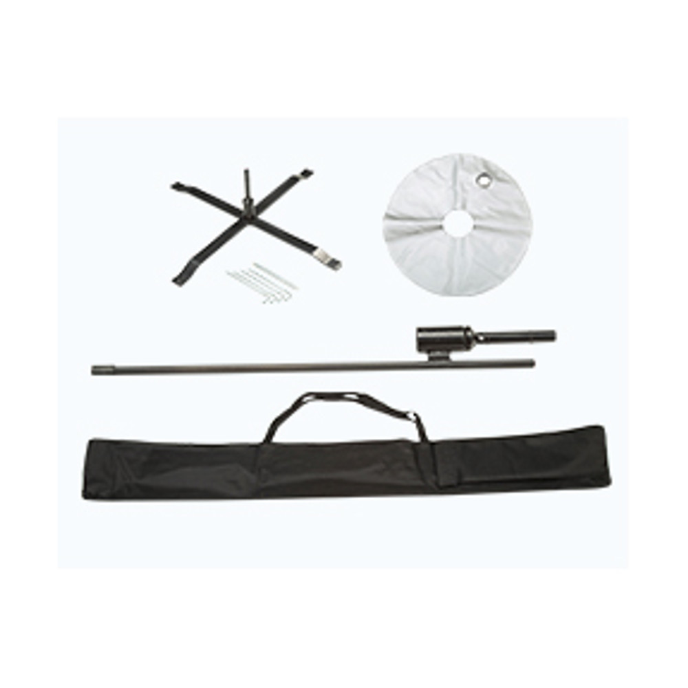 Cross Bass (with Water Bag), Ground Spike, and Carrying Case Included.