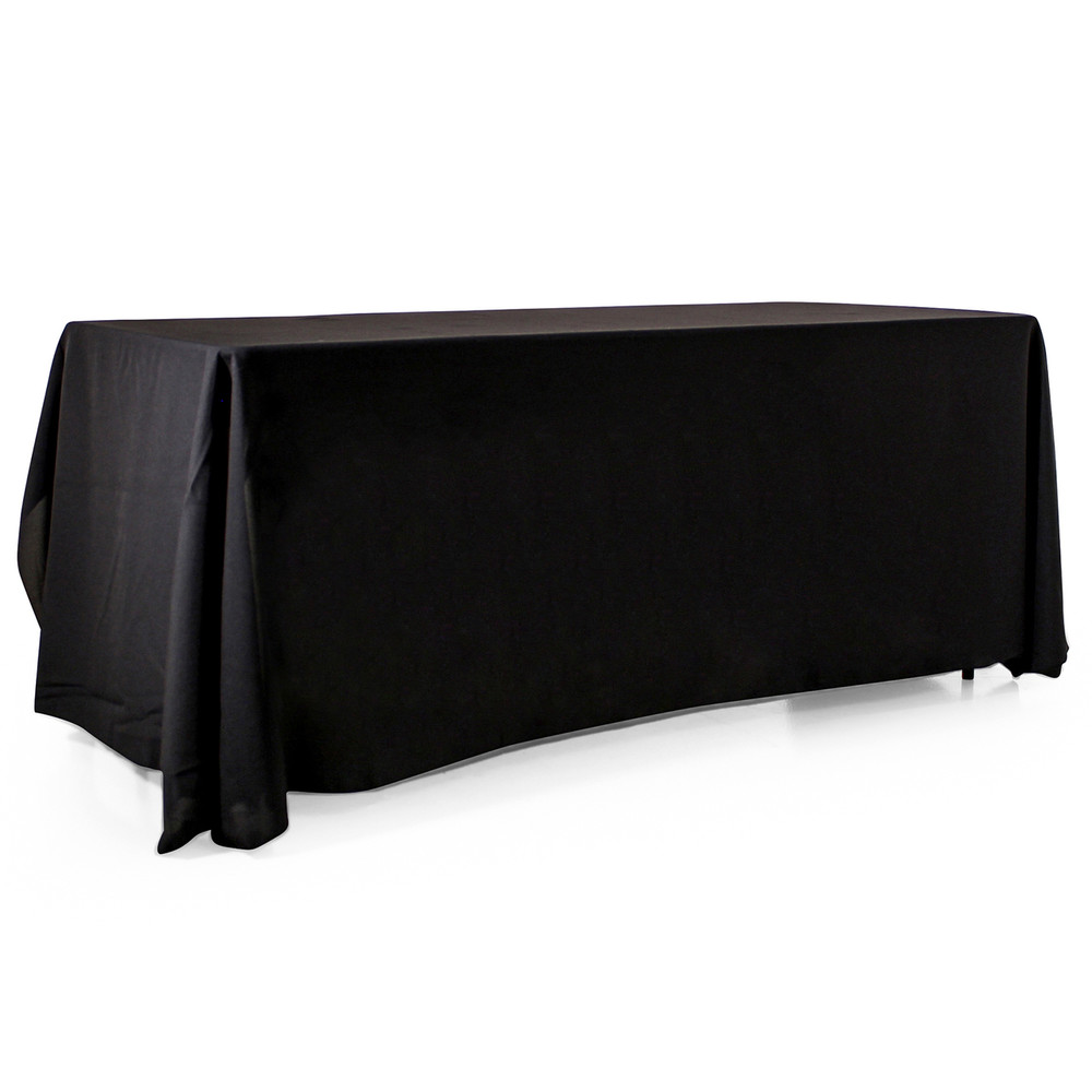 3-Sided Open-Back Blank Tablecloth