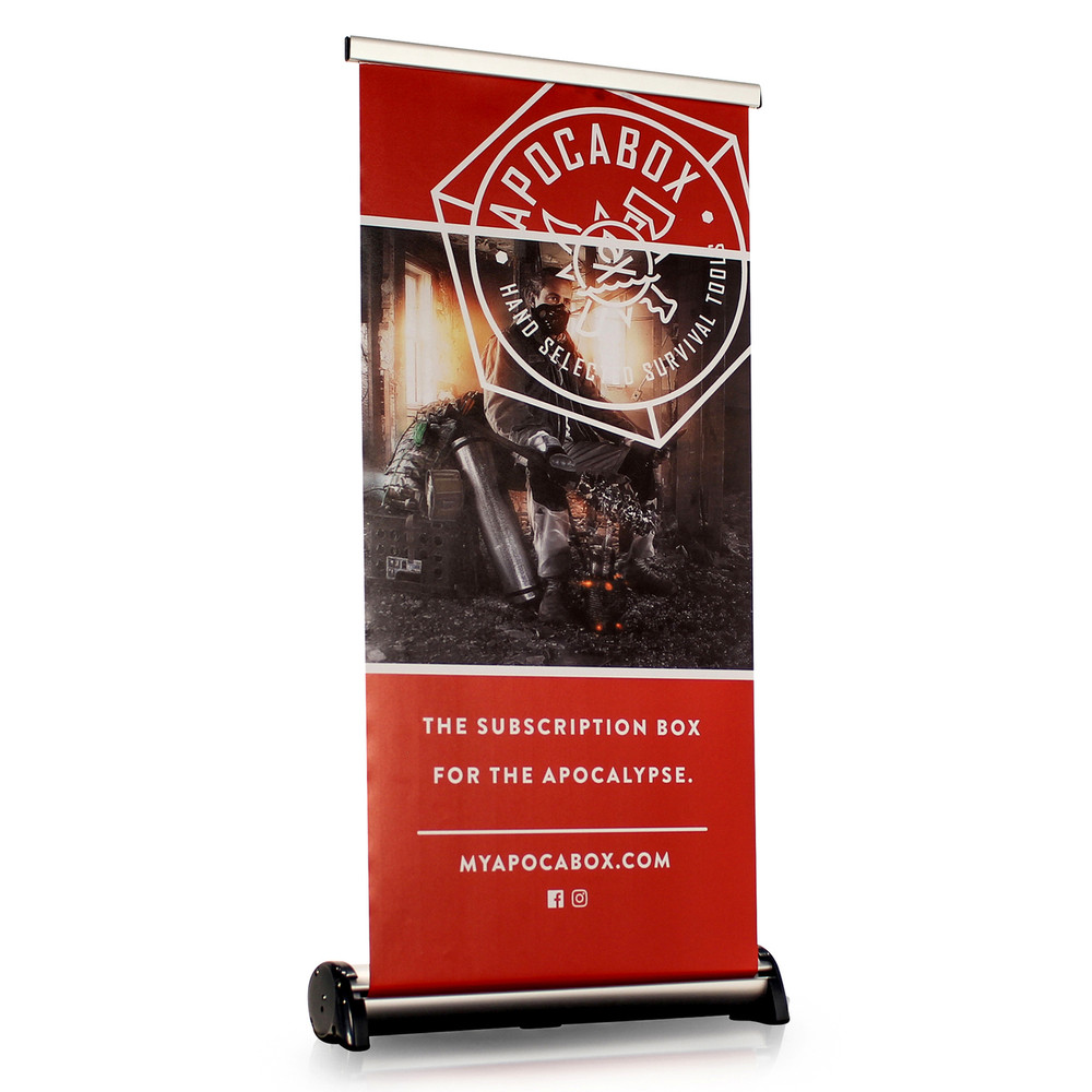 Phoenix Mini Tabletop Retractable Banner Display