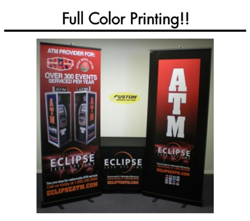 This 33.5 inch retractable banner display is a must-have for your next trade show.