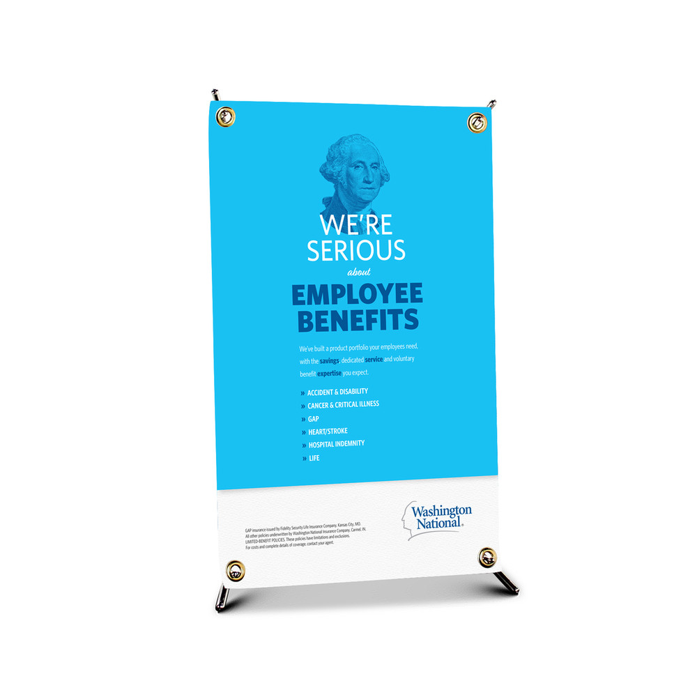 Employer Product Bannerstand (Table Top - X stand)