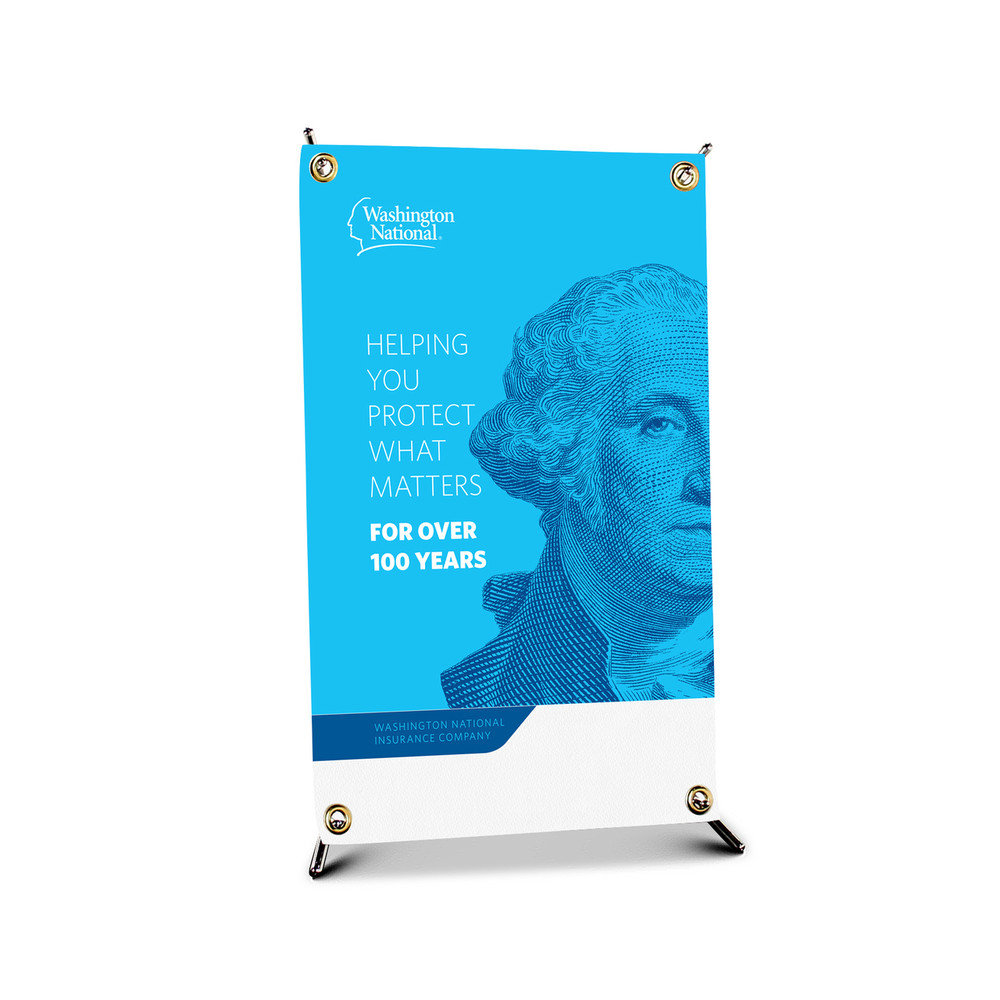 Washington National Brand Bannerstand (Table Top - X stand)