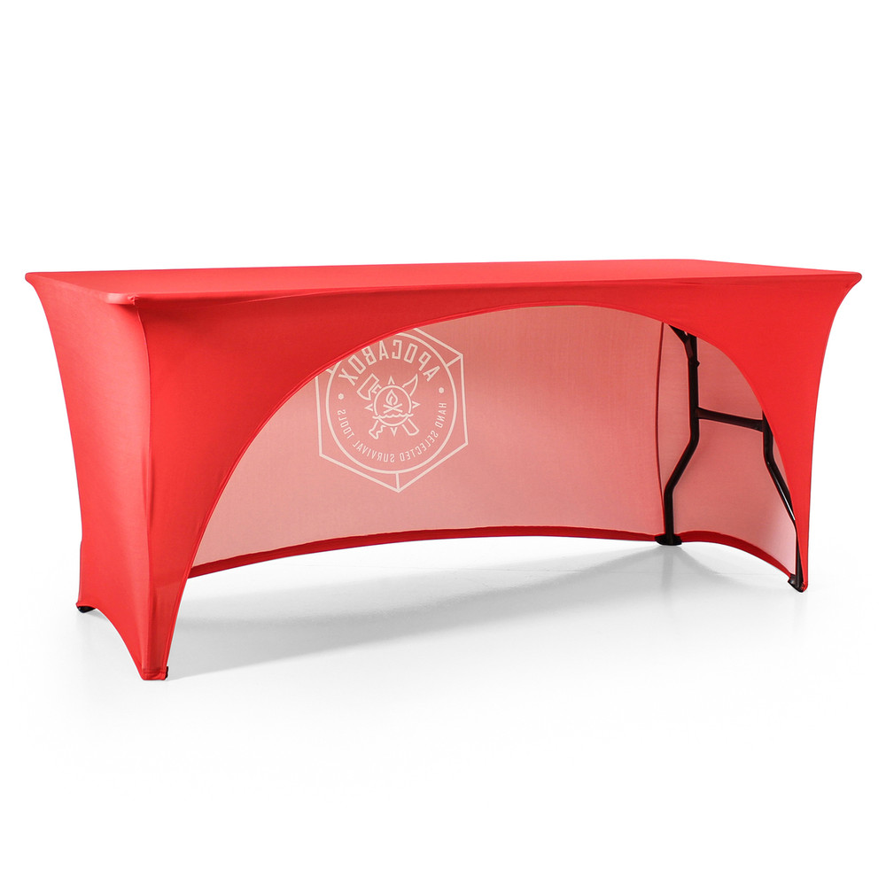 Stretch Open-Back Custom Printed Logo Tablecloth