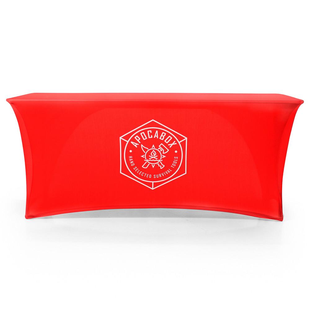 Stretch Open-Back Custom Printed Logo Tablecloth