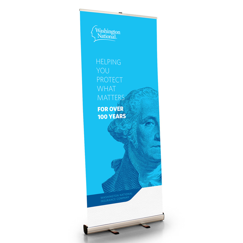 Washington National Brand Retractable Bannerstand