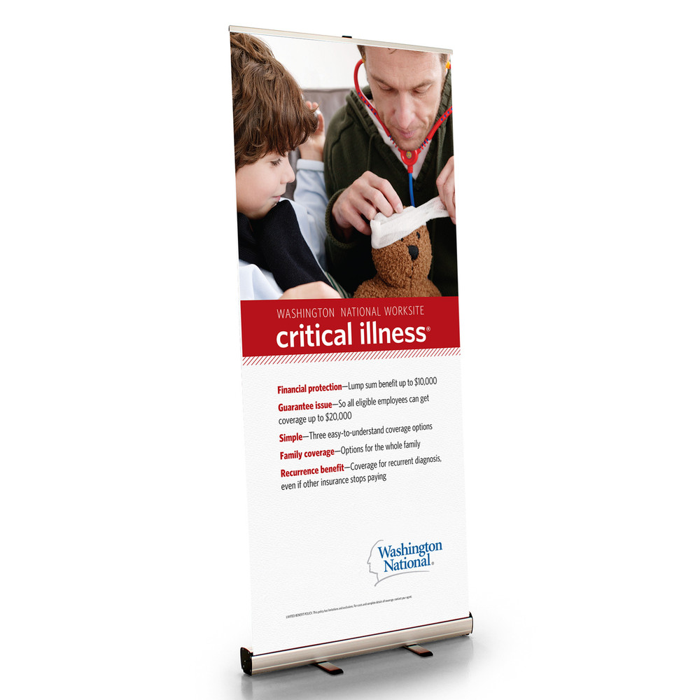 Worksite Critical Illness Retractable Bannerstand