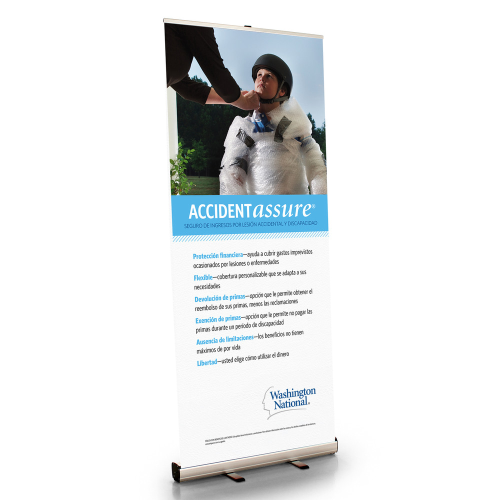 Accident Assure Retractable Bannerstand - SPANISH
