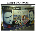 Roll Up Banner Stand- make a back drop!