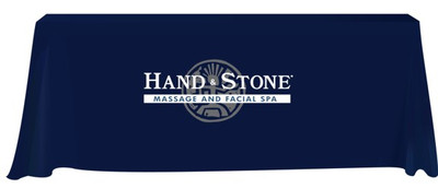 Hand and Stone 3-sided 6 Foot Tablecloth - NAVY