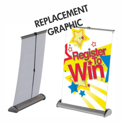Mini Retractable Replacement Graphic- perfect for trade show display table.