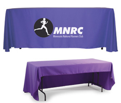 Custom 3 Sided Table Throw w/ Logo