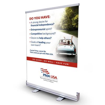 PMA Agent Recruiting Bannerstand - 24 x 36