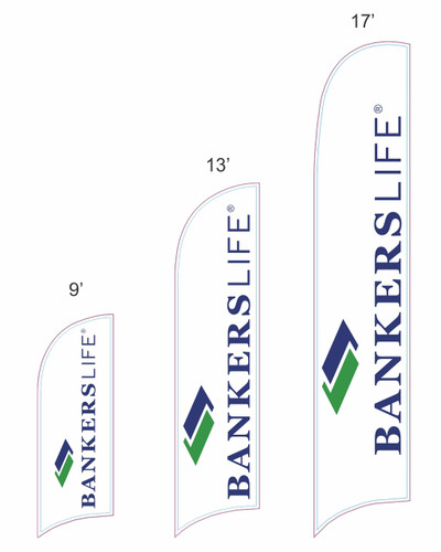 Bankers Life Razor Feather Flag